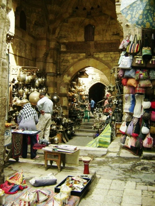 The Khan al Khalili Bazaar by Purple Rose
