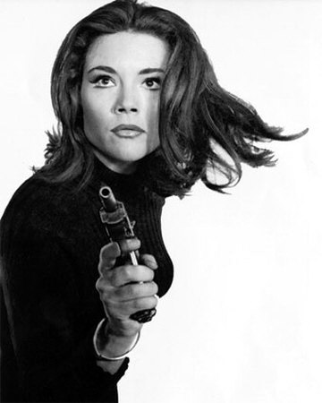 Diana Rigg as Mrs Emma Peel in The Avengers